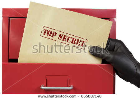 top secret documents from red file cabinet
