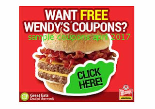 free Wendys coupons april 2017