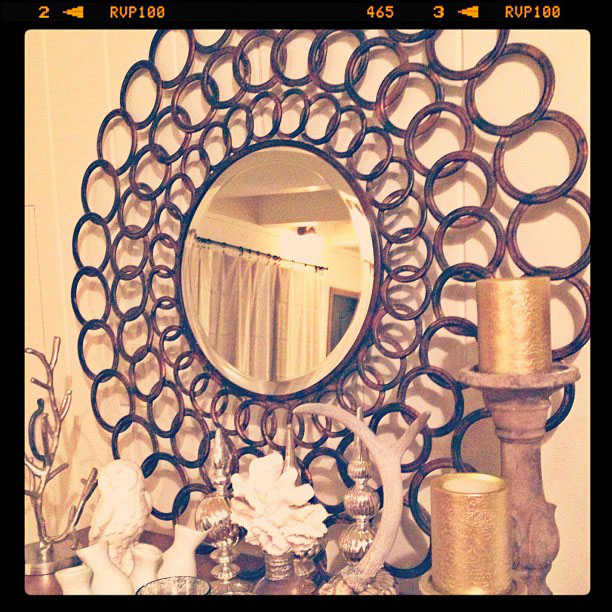 circles mirror, decorating ideas