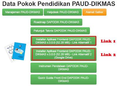 Download Dapodik PAUD Sudah Dirilis