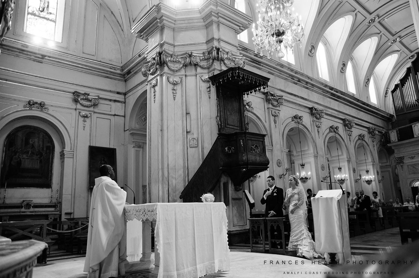 Church ceremony in Positano