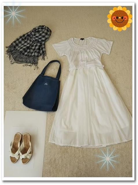 少ない服で着回すには白い服は便利