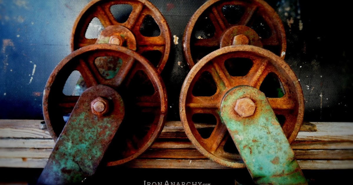 iron anarchy  antique casters