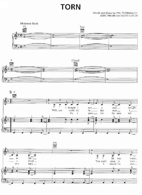 Partitura Piano Natalie Imbruglia