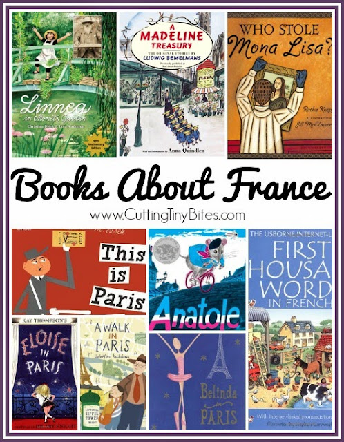 Picture Books About France for Kids collage