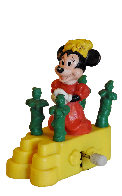 An older Minnie Mouse windup toy.