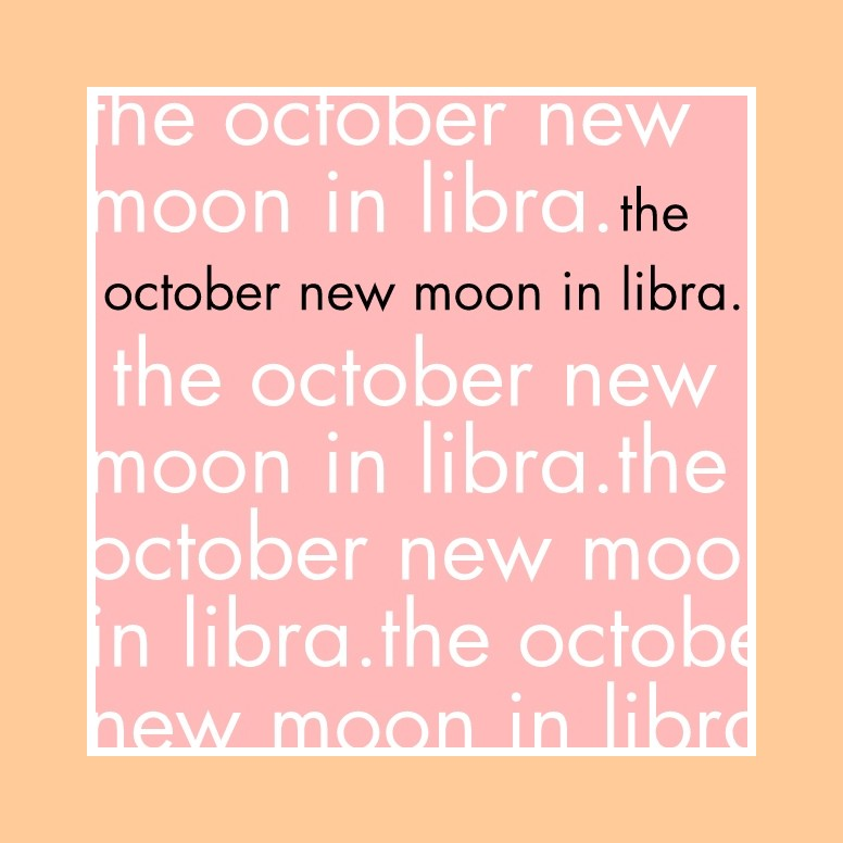 The October New Moon