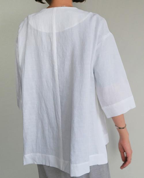 Linen Snap Button Jacket