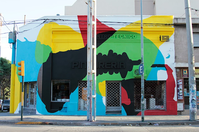 """""""Saturated Corner"""" New Abstract Mural by Argentinean painter Elian in Cordoba. 2"""