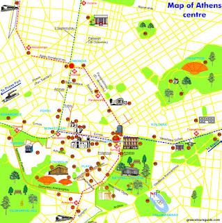 Mapa de Atenas.
