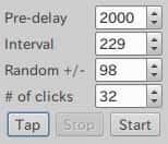 Tap操作で自動的に間隔に関する値が決まる