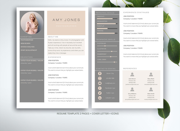 Resume template for MS Word Best Resume Design – Word Template Resume