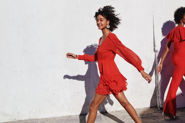 vestido-rojo-lunares-hm