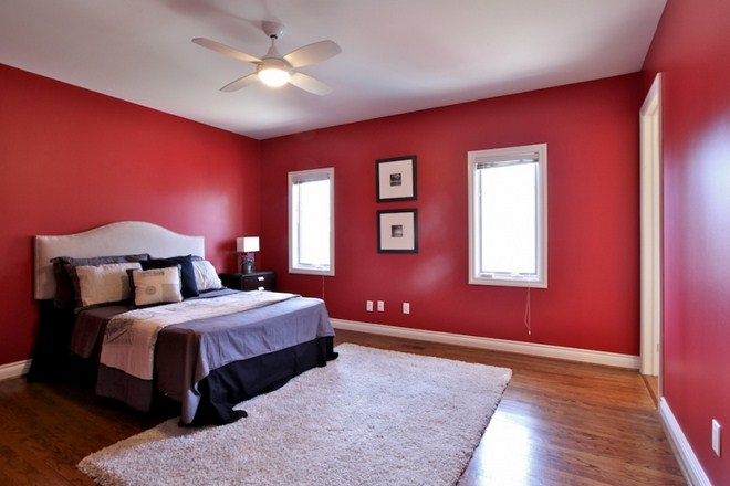 Red Bedroom Decorating Ideas For Oriental Home Design