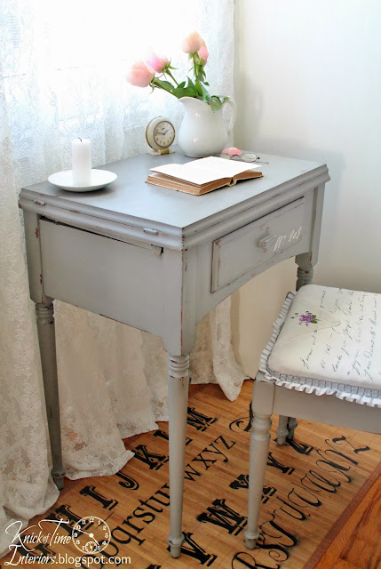 sewing table painted with chalk paint