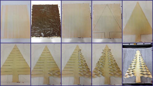 Albero di pasta sfoglia alla Nutella - Dolce di Natale facile e veloce - Foto procedimento
