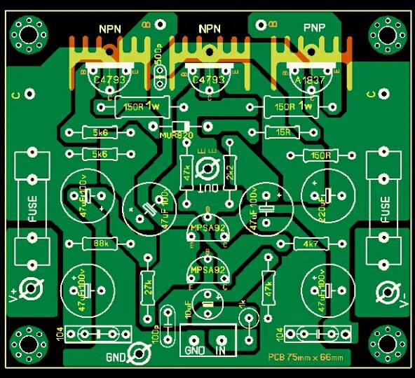 reverb driver schematic pcb layout design electronic circuit  pcb layout design electronic circuit