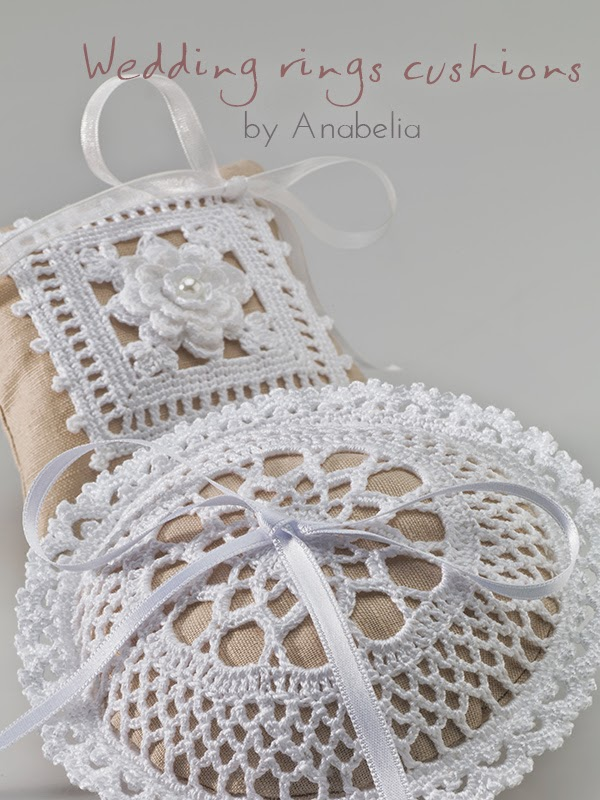 Wedding rings cushions by Anabelia