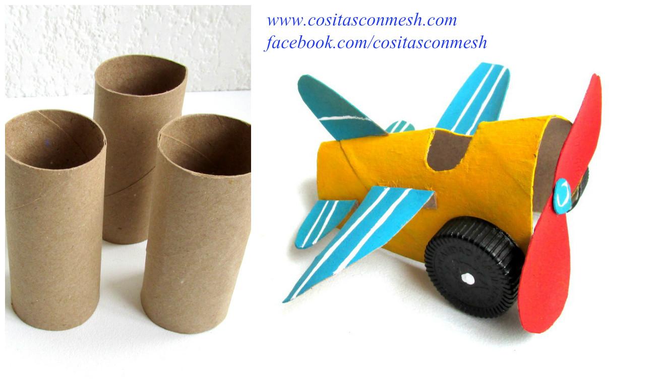 Manualidades para ni os avioneta reciclando tubos de papel - Manualidades para ninos con papel ...