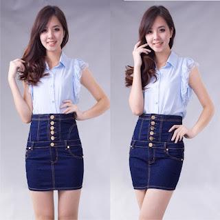 Model Rok Pendek Jeans