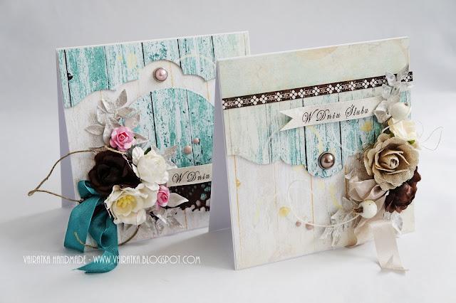 Kartki ślubne handmade