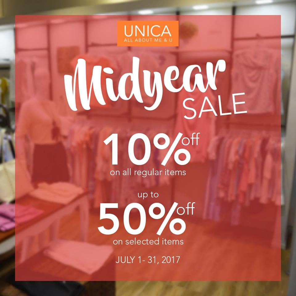 Throw Money At Screen Unica Hija Midyear Sale Until July - 2017 july 31