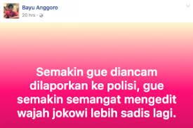 Hina Jokowi, Bayu Anggoro Bangga Dirinya Tak Kunjung Ditangkap