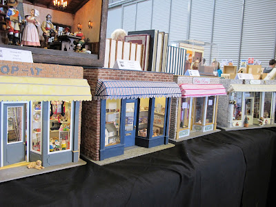 Row of one-twelfth scale miniature shops.
