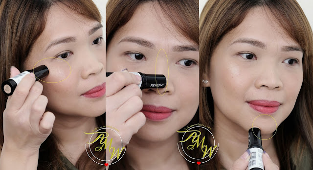 a photo of Photoready Insta-Fix Highlight Stick in Gold Light and Revlon Insta-Fix blush in Berry Kiss