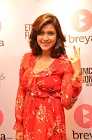 Mannara Chopra in deep neck Short red sleeveless dress Cute Beauty ~  Exclusive Celebrities Galleries 072.JPG