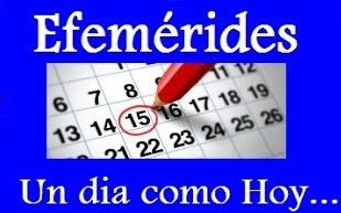 Efemérides Venezolanas nuevas . Efemérides nuevas de Venezuela. Tal dia como hoy en la Historia. Hoy en la Historia.