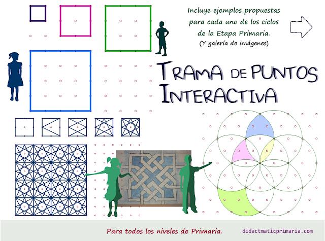 Trama de puntos interactiva para todos los niveles de Primaria.