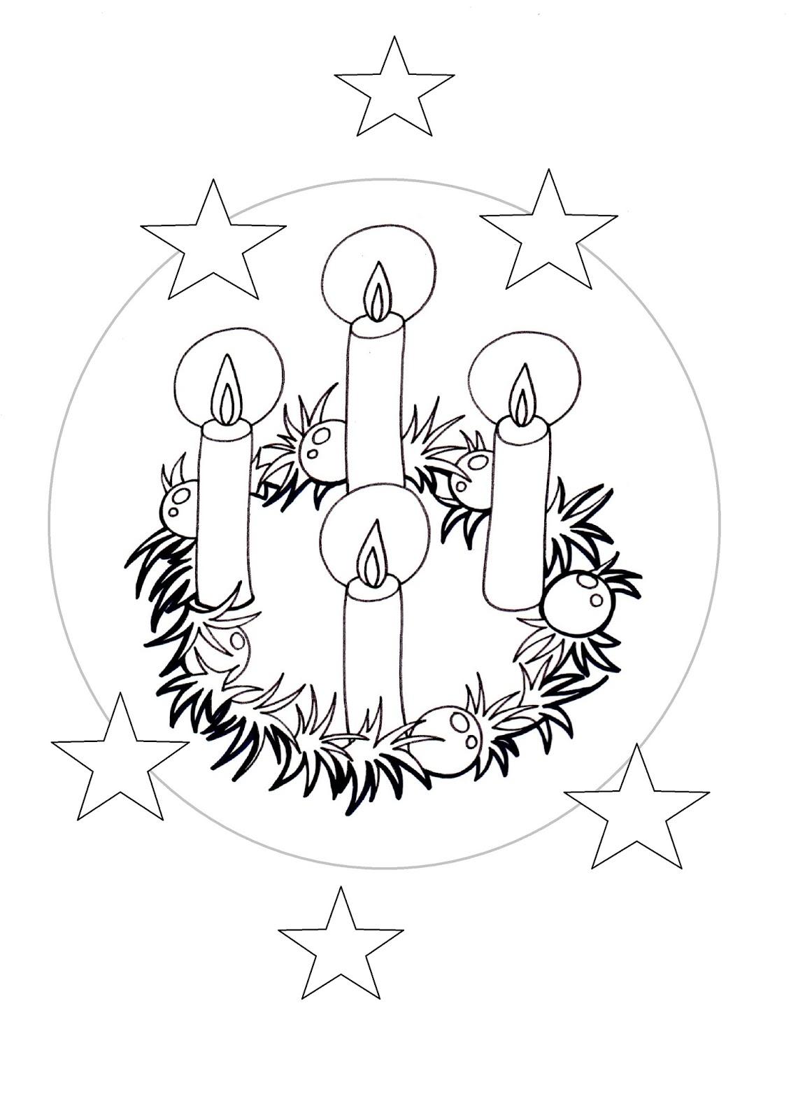 El Rincn de las Melli DIBUJO Corona de Adviento