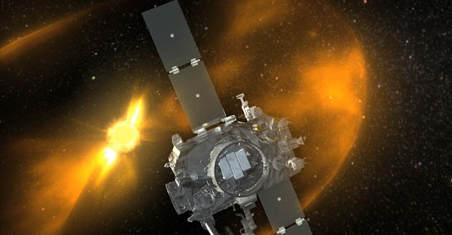 Artist rendition of STEREO spacecraft viewing a CME. Credit: NASA