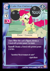 My Little Pony Cutie Pox Outbreak Absolute Discord CCG Card