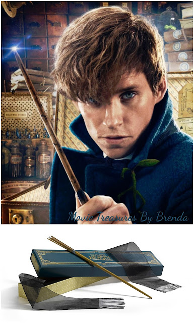 Fantastic Beasts Newt Scamander (Eddie Redmaye) with Wand