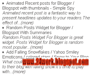Recent Posts Widget with Post Summary And Read More