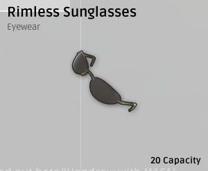 Солнцезащитные очки без оправы(Rimless Sunglasses)