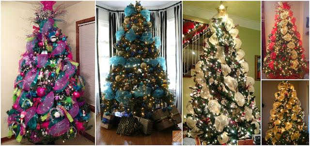 Aprende c mo decorar 7 rboles navide os con mallas - Como decorar un arbol de navidad azul ...