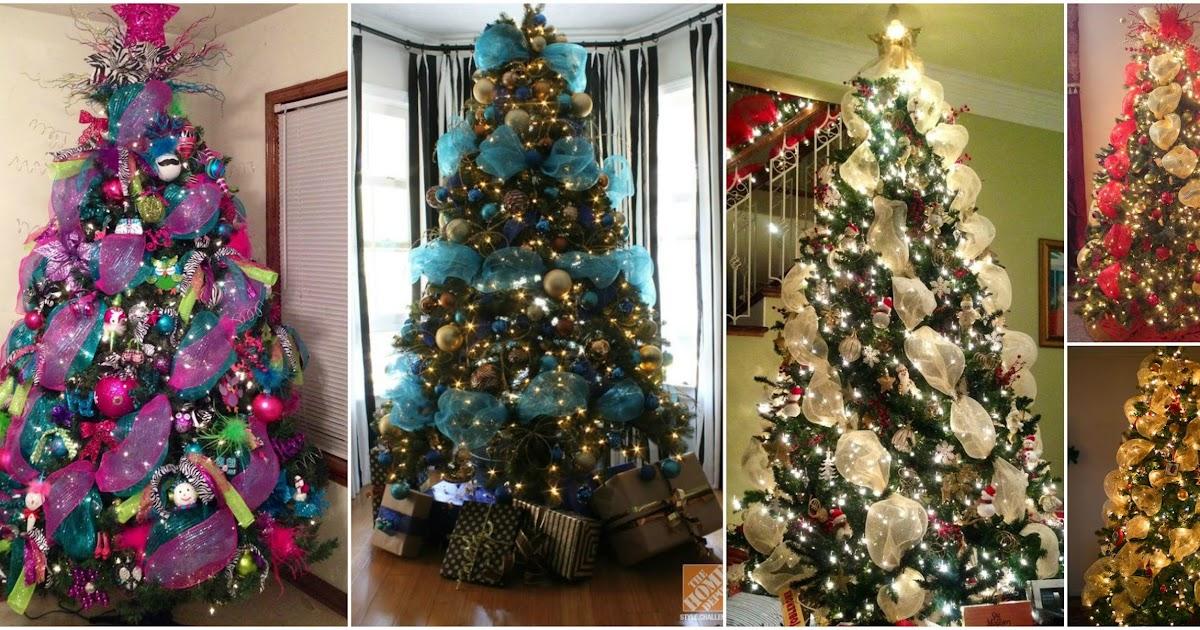 Aprende c mo decorar 7 rboles navide os con mallas - Decoracion para arboles navidenos ...