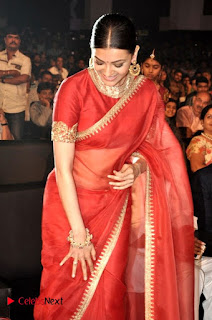 Kajal Aggarwal Stills in Red Saree at msavam Audio Launch ~ Bollywood and South Indian Cinema Actress Exclusive Picture Galleries