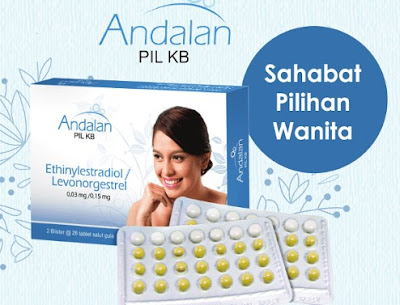 Pil KB Andalan - Manfaat, Dosis, Efek Samping dan Harga