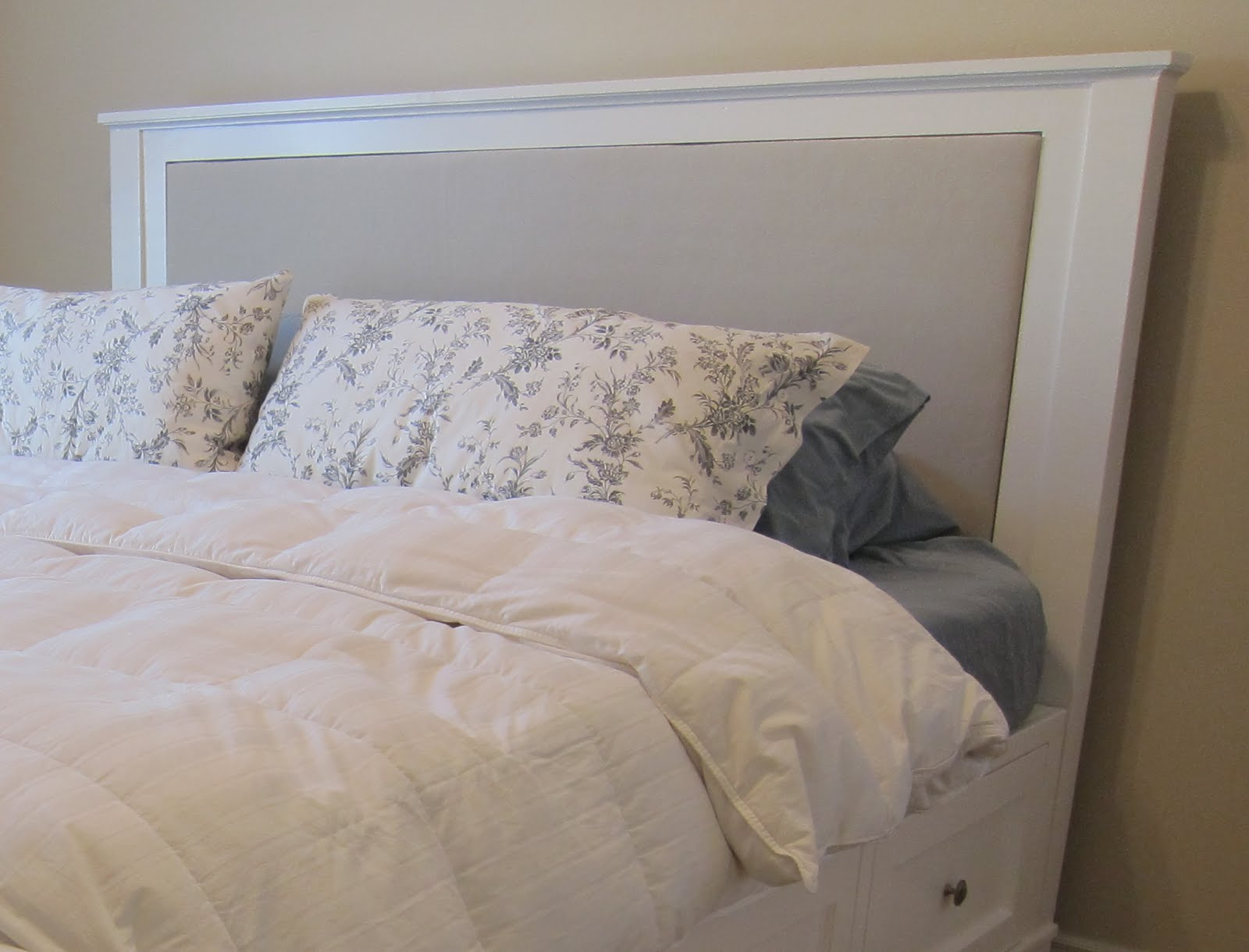 DIY : King Size Bed Frame Part 4 - Headboard and Finished ...