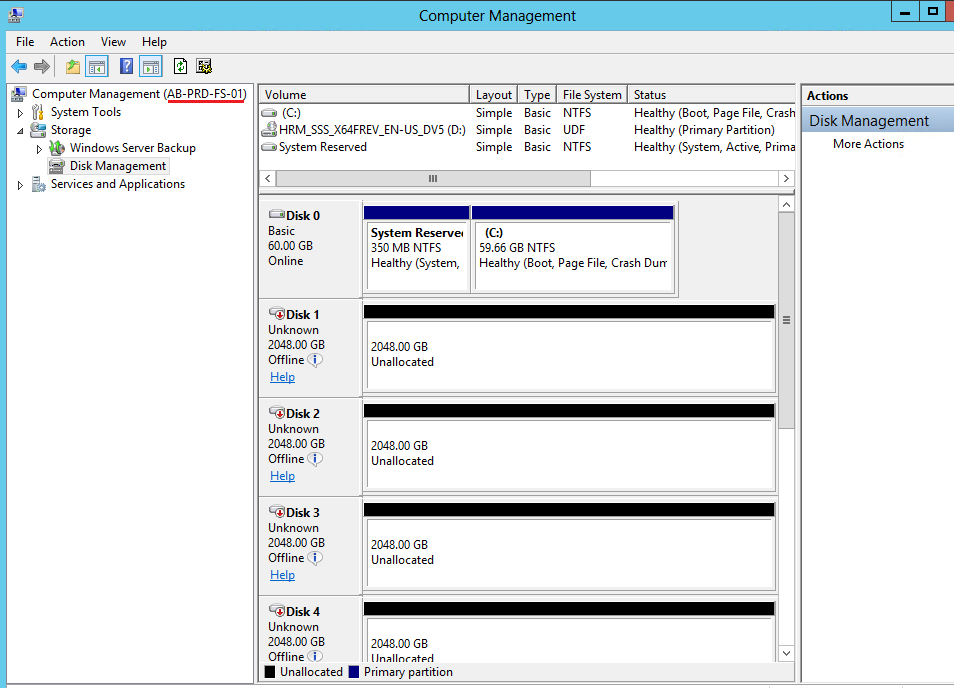 Clint Boessen's Blog: Remote Disk Management to Server 2012 core