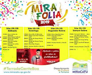 Programação do MiraFolia 2019