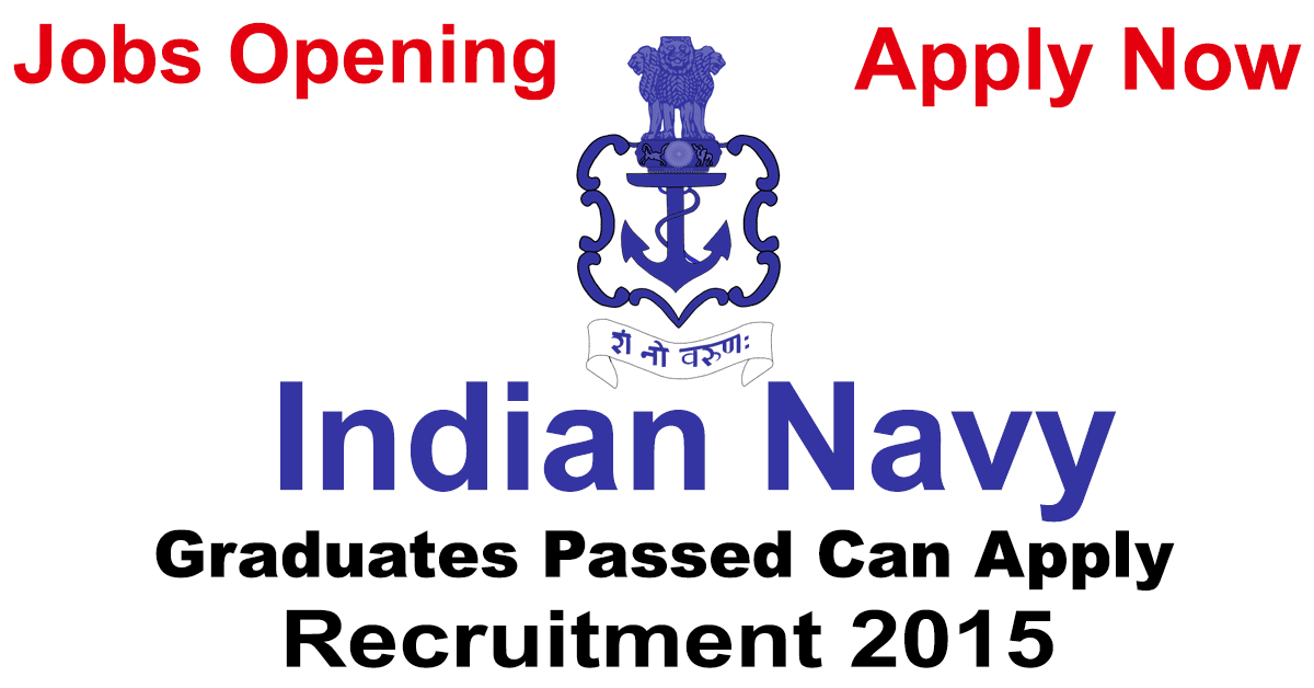 Indian Navy Recruitment for SSC Officer 2015