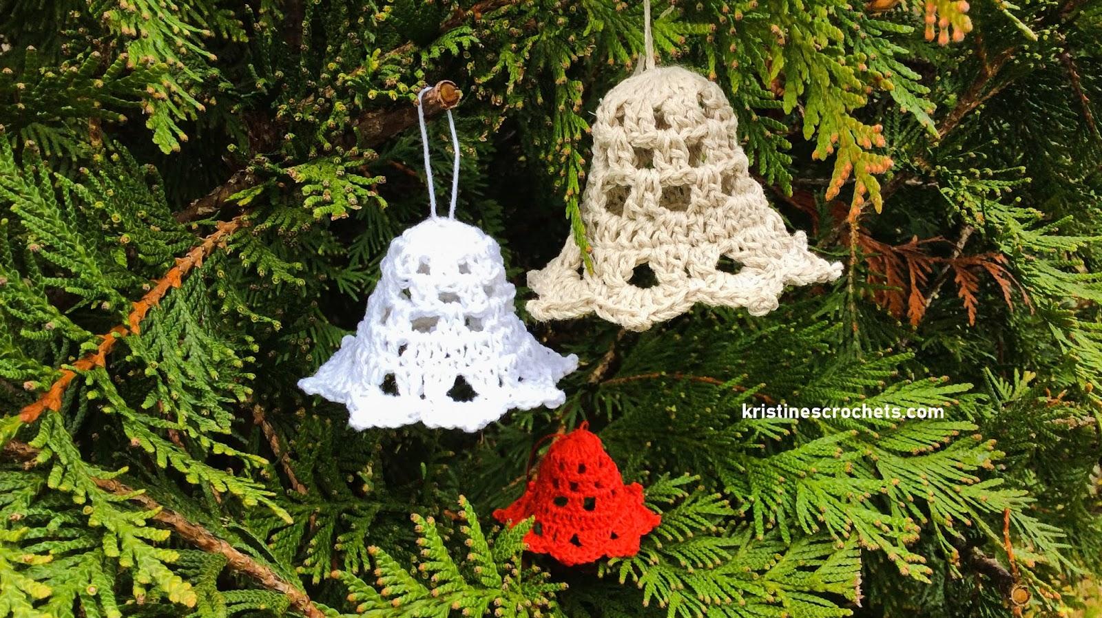 Kristinescrochets Christmas Bell Decoration Free Crochet Pattern