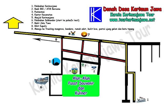 Peta lokasi penginapan karimunjannah house