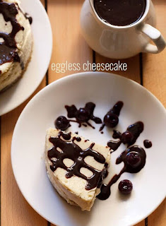Eggless Cheesecake Recipe