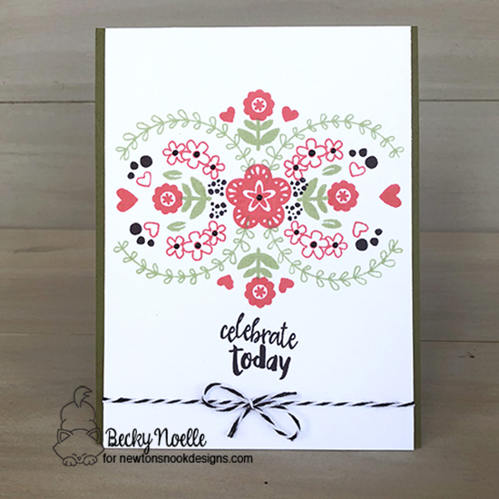 Celebrate by Becky features Tranquil Tides, Happy Little Thoughts, and Cottage Garden by Newton's Nook Designs; #newtonsnook